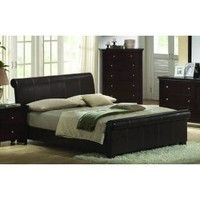 California King Size Bed - Contemporary Espresso Color