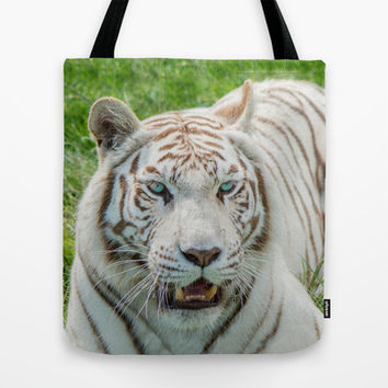 THE BEAUTY OF WHITE TIGERS Tote Bag by Catspaws | Society6