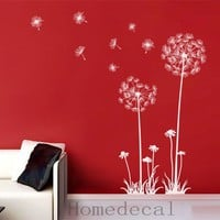 Dandelions Interior Wall Vinyl Decal Graphic Wall by Homedecal