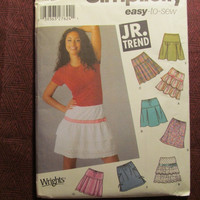 SALE Uncut Simplicity Sewing Pattern, 5101! 11/12-15-16 Medium/Large/Juniors/Teens/Misses/Tiered Ruffled Skirts/Pleated Skirts/Flared Skirts