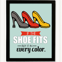11 x 14 Retro Poster Print - If the shoe fits...
