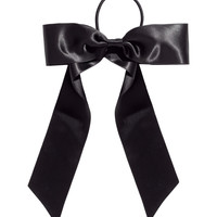 H&M - Hair Band with Bow - Black - Ladies
