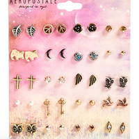 Aeropostale Assorted Stud Earring 20-Pack - Multi, One