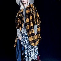 H Fredriksson Outerwear for Free People Womens Caroline Coat - Plaid,