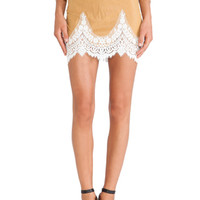 Giddy Up Suede Skirt in Camel Suede