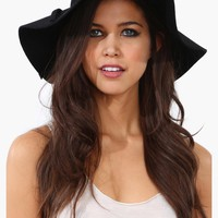 Bardot floppy wool hat