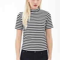 Textured Knit Striped Top