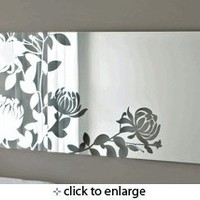 Melissa Wall-Mounted Mirror with Floral Design