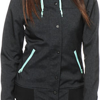 Empyre Dovey Black Textured 10K Softshell Jacket