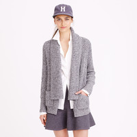 MARLED RIB-STITCH OPEN CARDIGAN