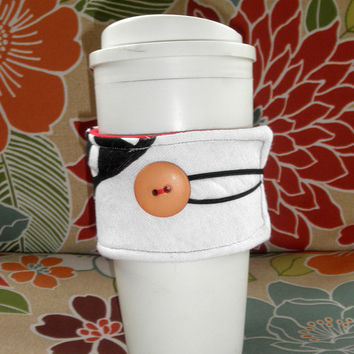 Upcycled T-Shirt Coffee Cozy