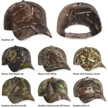 Kati Licensed Realtree Mossy Oak Camo Hat with Velcro Strap Camouflage Cap LC15V