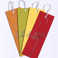 Dandelion Bookmark Set Flower Bookmark Set of 4 Bookmarks