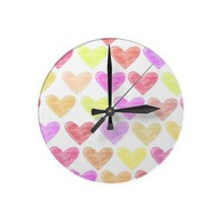 Hearts Wall Clock from Zazzle.com