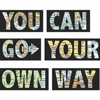 Go Your Own Way Decor - Peel N Stick Dorm Decor Dorm Decorations Peelable Wallpaper Dorm Accessories Decorations for College Cool Posters Inspirational Poster