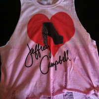 Jeffrey Campbell inspired Lita Ombre Pink Dethreaded cut off tank