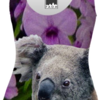 Koala and Cooktown Orchids One Piece Swimsuit created by ErikaKaisersot | Print All Over Me
