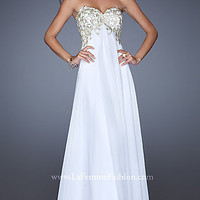 Long Empire Waist Prom Gown by La Femme