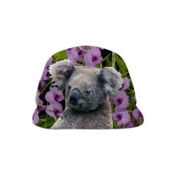 Koala and Cooktown Orchids Baseball Hat created by ErikaKaisersot | Print All Over Me