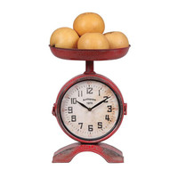 Weighing Time Clock in Red