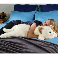 Super-Soft Cuddly Cat Body Pillow, in Brown:Amazon:Home & Kitchen