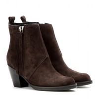 Short Pistol suede ankle boots