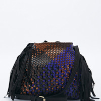 Claramonte Accessories Fringe Edge Shoulder Bag - Urban Outfitters