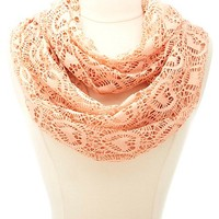 Heart Crochet Infinity Scarf by Charlotte Russe