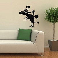 Wall Decor Vinyl Decal Sticker LITTLE FUNNY DEER WITH A BOW-TIE DA562