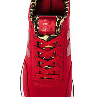 The Highroller Sneaker in Red with Leopard Insole