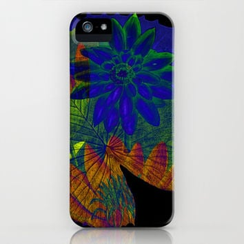 lotus on black iPhone & iPod Case by clemm
