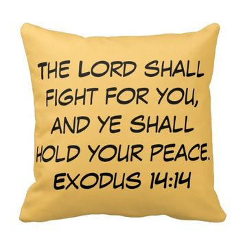 The Lord Shall Fight For You Scripture Pillow