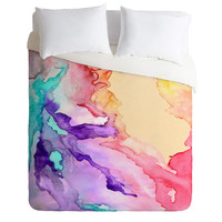 Rosie Brown Color My World Duvet Cover Queen Sample Sale