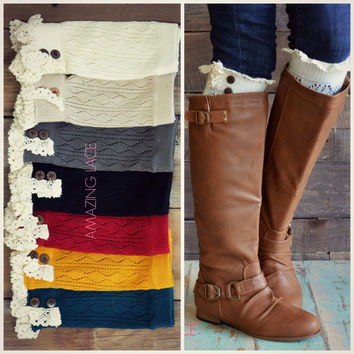 Huckleberry Run Crochet Boot Cuffs