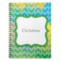 Swirly Paint Personalized Notebook 5