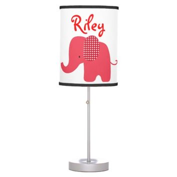 Red Baby Elephant Table Lamp