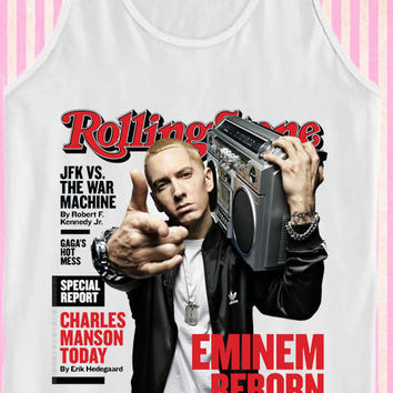 Rolling stone eminem reborn for Tank Top Mens and Tank Top Girls
