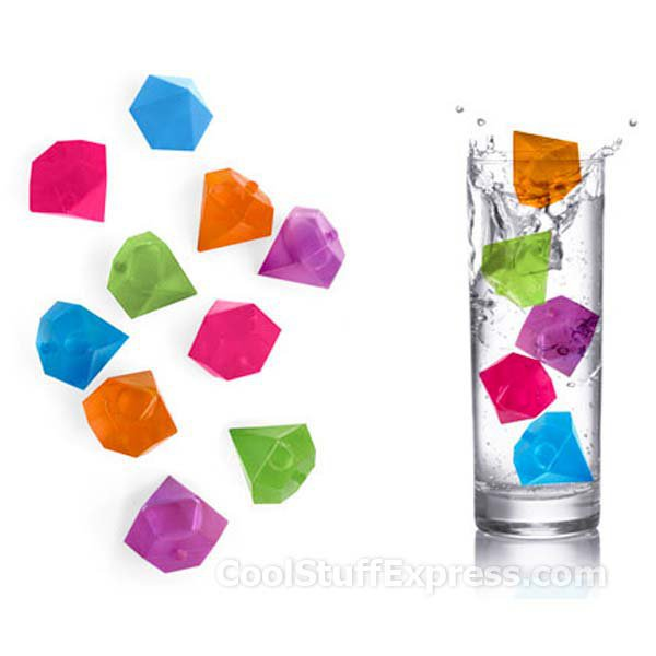 Diamond Shaped Reusable Ice Cubes