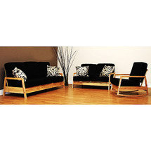 Walmart: Baltic Collection 3 Piece Living Room Set, Black