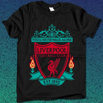 You'll Never Walk Alone Liverpool Logo for T Shirt Mens and T Shirt Girls