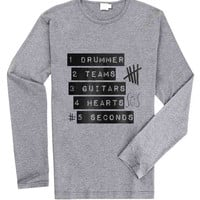5 Seconds Of Summer Logo for Long Sleeved Mens and Long Sleeved Girls T Shirt
