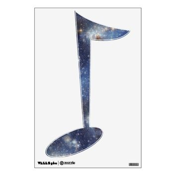 Musical Note Starry Space Wall Decal