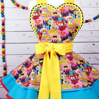 Girl Comic Hero Apron by Dots Diner -- in Stock