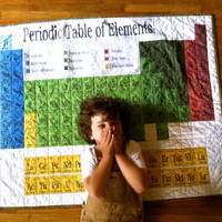 PERIODIC TABLE QUILT - Elemental Earth Quilt - Modern Quilt