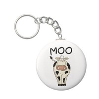 Moo Cow Keychains from Zazzle.com