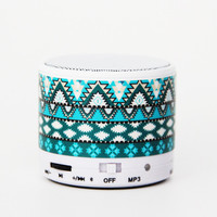 Aztec Tribal Green Wireless Bluetooth Mini Speaker - Bluetooth Speaker