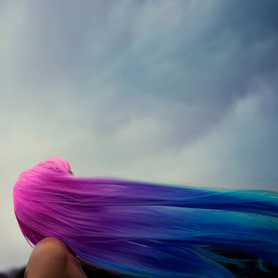 The ULTIMATE Rainbow Ombre Mermaid Hair Extensions // 24&quot; FULL Head  // Clip-In // Human Hair