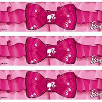Barbie Ruffles and Bows Edible Image Cake Borders by DecoPac 3 Strips by SweetnTreats on Zibbet