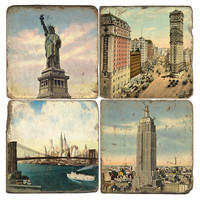 Marble Coasters, Old New York City,