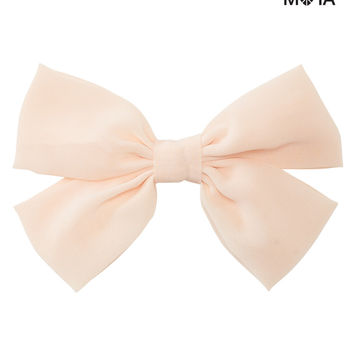 BIG SOLID BOW HAIR CLIP